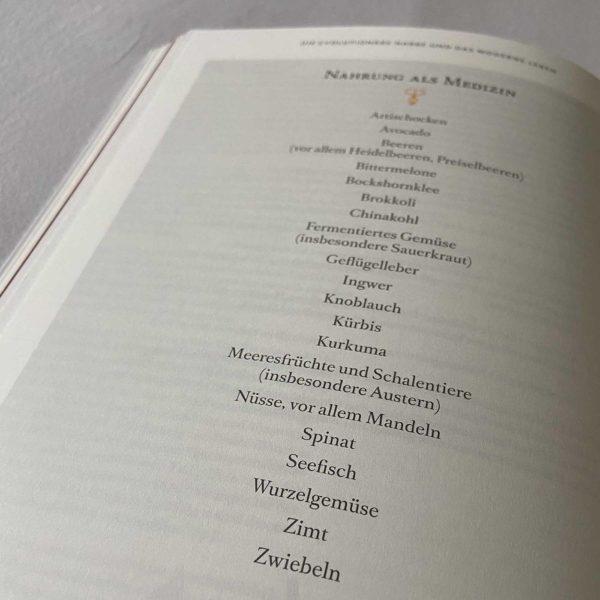 Liste mit Nahrung als Medizin